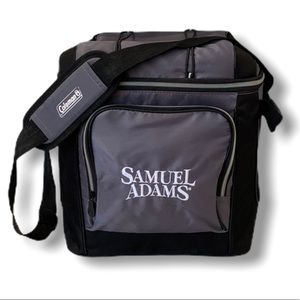 Coleman shoulder carry cooler with Sam Adams logo
